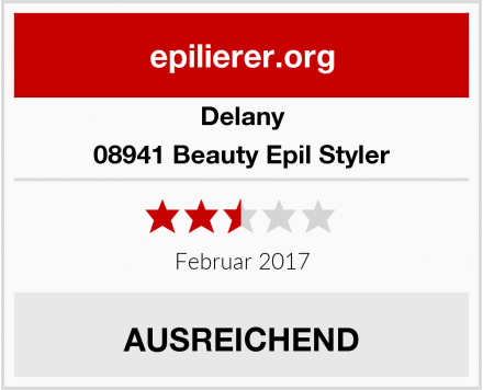 Delany 08941 Beauty Epil Styler Test